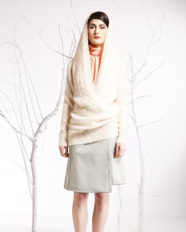 Annemie Verbeke + AW 14 + Brussels fashion designer + white dress